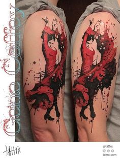 Gene Coffey Tattoo Culture Brooklyn - Flamenco Dancer - http://tattrx.com/artists/gene-coffey