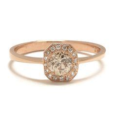Deco Transitional Diamond Ring