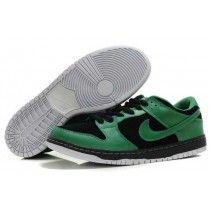 best loved a3d95 90e87 Authentique Nike Dunk Faible Cut Homme Campus Noir Vert Chaussures De Sport-20  Nike Air