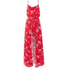 Mila Floral Print Wrap Dress by Wyldr ($33) ❤ liked on Polyvore featuring dresses, multi, red floral print dress, floral print dress, floral wrap dresses, boho dresses and flower print dresses
