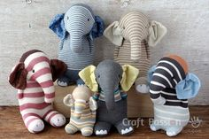 Sew sock elephant by using this ultimate pattern and tutorial. Easy to sew with guide from pictures and instructions. Great as handmade gift – Page 2 of 2