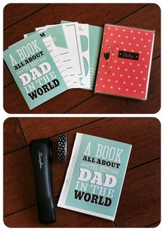A printable book all about dad