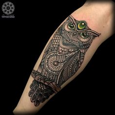 Another beautiful Owl tattoo by Coen Mitchell