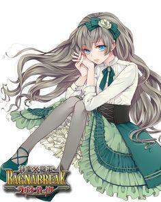 Tags: Anime, Mikuni (Pixiv2629209), Shinma × Keishou!  RAGNABREAK, Antoinette (Ragnabreak), Cabello ondulado, de color Multi-Bow, ropa victoriana
