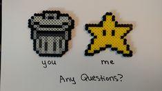 Pixel art, Sushi, original paintings, and geek craft by MelParadise Geek Crafts, Bead Patterns, Perler Beads, Pixel Art, Original Paintings, Paradise, Etsy Seller, Geek Stuff, Memes
