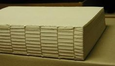 Bookbinding/Long stitch - Wikibooks, open books for an open world (with instructions)