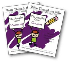 Free write thru the bible Apostles-Creed-Books
