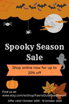 Halloween sale! Up to 20% off in store now