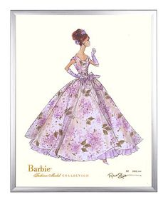 Look what I found on #zulily! Autographed 'Violette' Limited Edition Framed Barbie Print #zulilyfinds