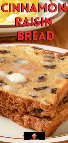 Cinnamon Raisin Bread. A nice easy bread to make, using your bread maker or oven. Delicious toasted and served warm with some butter. Almond Sheet Cake Recipe, Sheet Cake Recipes, Easy Bread Machine Recipes, Bread Maker Recipes, Fruit Recipes, Brunch Recipes, Cooking Recipes, No Knead Bread, Yeast Bread