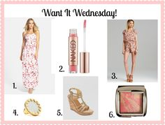Want It Wednesday - Pink and Pretty! www.alittleglitter.com