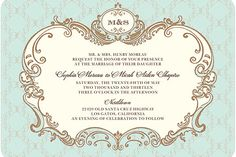 After all, we did get engaged in DISNEY! ;) Gilded invitation by Wedding Paper Divas