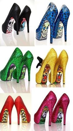 I never wear heels but these are just fun to look at…and I wouldn't mind making some, either!