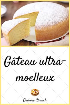 Gateau Cake, Easy Desserts, Vanilla Cake, Baked Goods, Good Food, Food And Drink, Favorite Recipes, Sweets, Baking