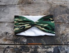 Turban Headband Women's Camo Knit Jersey by aperfectmessvintage
