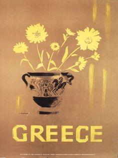Vintage travel poster of Greece Tourism Poster, Poster Ads, Vintage Advertisements, Vintage Ads, Greece Tourism, Greece Travel, Old Posters, Greece Design, Greek Islands To Visit