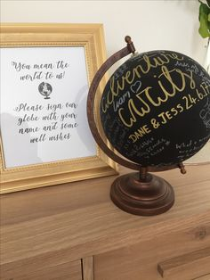 Globe guest book - weddings abroad