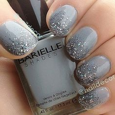 nails -                                                      So gorgeous love the glitter over white
