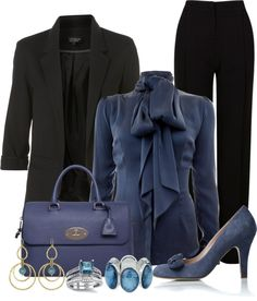 """Blue Work OutFit"" by lisamoran on Polyvore"
