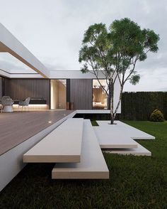11 Houses with Modern Architecture and Design Modern Home Design, Modern Architecture Design, Minimalist Architecture, Dream Home Design, Bauhaus Architecture, Indian Architecture, Architecture Drawings, Modern Art, Roman Architecture