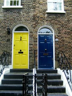 Colorful front doors in London