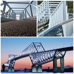 Puente Puerta de la Bahía de Tokyo. Tokyo Bay Gate Bridge.