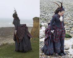 Tartan bustle dress and windy event !