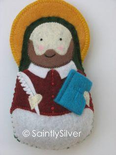 Saint Francis de Sales Felt Saint Softie by SaintlySilver on Etsy