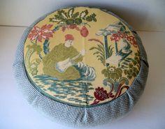 Oriental Scene Zafu Meditation Cushion. Buckwheat Hulls www.meditationinspires.com/ #cushion #greatstuff #meditationcushion