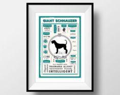 Miniature Schnauzer Print Milliners Dog Schnauzer por LoopyLolly