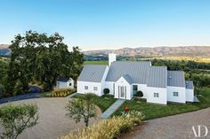 Architect Hugh Newell Jacobsen designed this Napa Valley dream home for a San Francisco media entrepreneur.