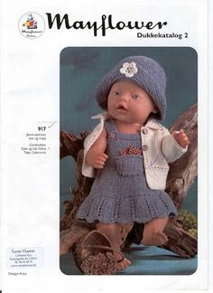 Billede: Diy Doll Pattern, Knitted Doll Patterns, Knitted Dolls, Baby Patterns, Knitting Dolls Clothes, Baby Hats Knitting, Doll Clothes Patterns, Clothing Patterns, Girl Dolls