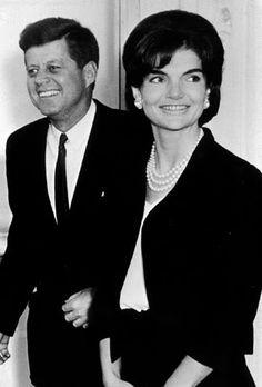 President Kennedy and wife Jackie
