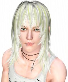 White Toyger Nyan hair for males by Kijiko - Sims 3 Downloads CC Caboodle