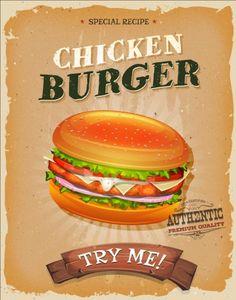 Vintage fast food poster design vector 04 - https://gooloc.com/vintage-fast-food-poster-design-vector-04/?utm_source=PN&utm_medium=gooloc77%40gmail.com&utm_campaign=SNAP%2Bfrom%2BGooLoc