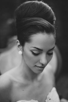 16 Seriously Chic Vintage Wedding Hairstyles | high hair do vintage style | weddingsonline