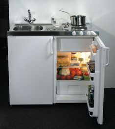 The popular John Strand Mini Kitchen has been sold throughout the UK for over 30 years used in a wide variety of residential and commercial situations. Micro Kitchen, Compact Kitchen, Casa Hipster, Ikea Duktig, Cocina Office, Tiny Studio, Creation Deco, Kitchen Units, Tiny Spaces