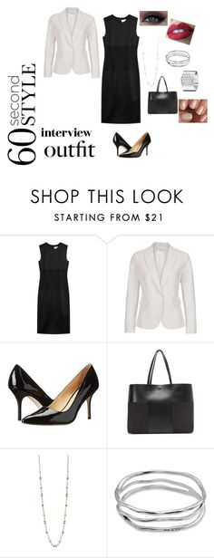 """""""Untitled #234"""" by lcslondon ❤ liked on Polyvore featuring DKNY, Cole Haan, Tory Burch, Uno de 50, Dinh Van, NYX, China Glaze, jobinterview and 60secondstyle"""