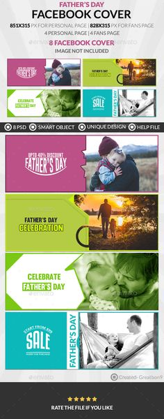 Father's Day Facebook Cover - 4 Design