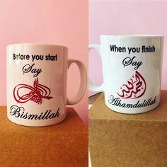 Islamic mugs Bismillah and Alhamdulillah