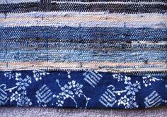 sakiori - japanese rug-weaving  Japanese Antique Mingei Textile Sakiori Rug