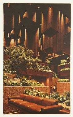 Fabulous Vintage 1970s Mid Century Architecture Playboy Club Hotel Postcard