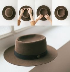 """more about Goorin Bros.' gorgeous """"Turn Of The Century""""............ i GOTTA get this hat!! The Turn of the Century is a special hat. It's on heavy rotation here in our headquarters because of its versatility and high chic factor!"""