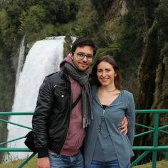 Visit Umbria: in front of Marmore Falls (165 meters into the river-bed of Nera).
