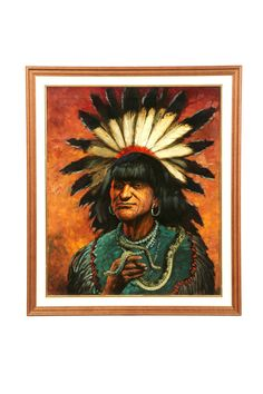 Animal Painter, Feather Headdress, European Paintings, Fine Art Auctions, India, Priest, Nativity, Oil On Canvas, Native American