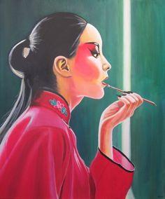 Chinese opera makeup by DavyR