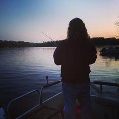 Time to head home. We'll be back soon lovely Stark Lake. #fishing #nightfishing #capturemn #onlyinmn by lisadiamondrough