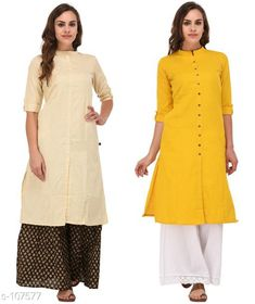 Kurtis & Kurtas Multicolored Cotton Kurti (Combo of 2)  *Fabric* Cotton  *Sleeves* Sleeves Are Included  *Size* XS, S, M, L, XL, XXL, 3XL,4XL ( Refer Size Chart For Details )  *Type* Stitched  *Description* It Has Combo of 2 Kurti  *Pattern* Solid  *Sizes Available* XS, S, M, L, XL, XXL, XXXL, 4XL *    Catalog Name: Solid Cotton Kurtis CatalogID_10640 C74-SC1001 Code: 949-107577-