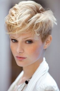 doing this before school... really short on both sides, long on top!