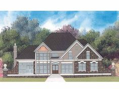 Home Plans HOMEPW00269 - 2,261 Square Feet, 4 Bedroom 2 Bathroom French Country Home with 3 Garage Bays